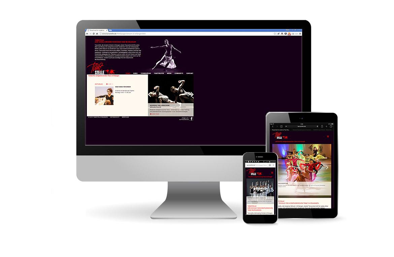 Webseite für Tanzstelle