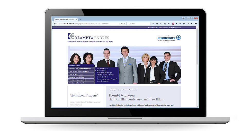 Website Klambt & Endres