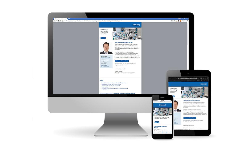 Reponsive Newsletter für KROHNE Messtechnik
