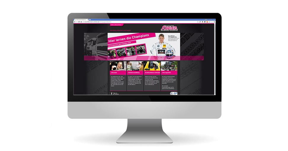 Website für Verkehrsinstitut Schielein