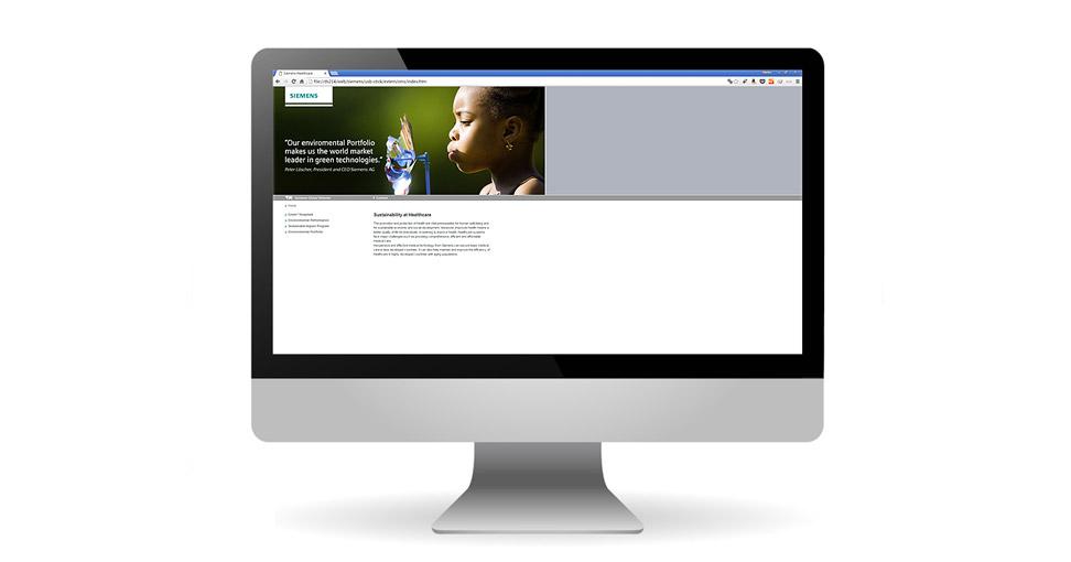 Microsite für Siemens Healthcare