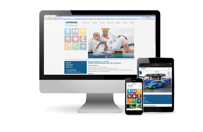 Responsive Wordpress Website für Herrmann aus Baiersdorf